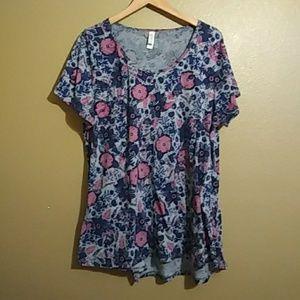LuLaRoe Floral Top. Size 2XL